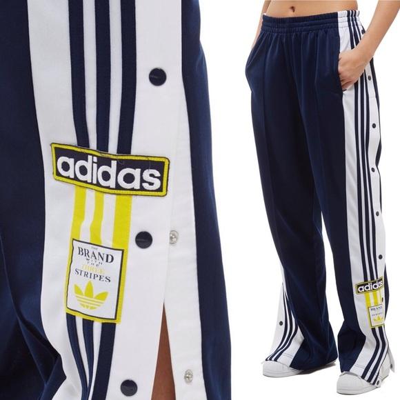 c4e35bbfe6ec NWT adidas Originals Navy Adibreak Track Pants